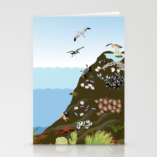 Southern California Tide Pool Explorer's Guide Stationery Card