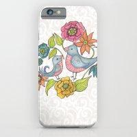 Blue Bird Garden iPhone 6 Slim Case