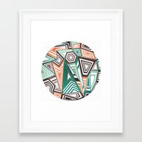 Funky in the Middle Framed Art Print