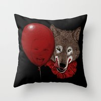 Red Decoy Throw Pillow