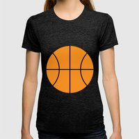 #9 Basketball Womens Fitted Tee Tri-Black SMALL