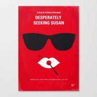 No336 My desperately seeking susan minimal movie poster Canvas Print