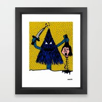 CLEVER-MEAN-EVERGREEN. Framed Art Print