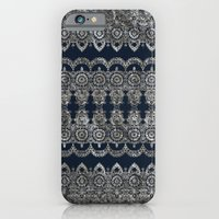 Silvery Striped Doodle iPhone 6 Slim Case