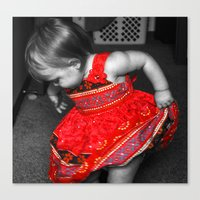 Dancing Red Dress Canvas Print