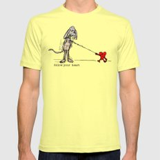 FOLLOW YOUR HEART Mens Fitted Tee Lemon SMALL