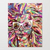Sun Glasses In A Summer … Canvas Print