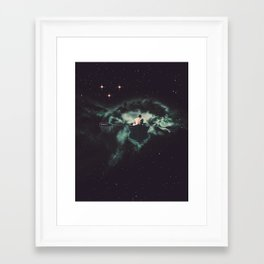 Framed Art Print - Rowing Through Space - TRASH RIOT