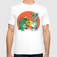 Kaiju Rap Battle Mens Fitted Tee White SMALL