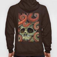 orange tentacles skull Hoody