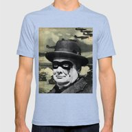 Churchill Mens Fitted Tee Tri-Blue SMALL