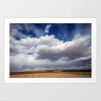 Desert Big Sky Art Print