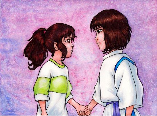Chihiro and Haku Art Print