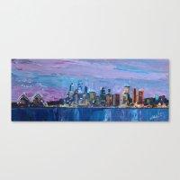 Sydney Skyline With Oper… Canvas Print