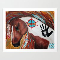 Indian paint horse Art Print
