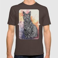 Black Cat Mens Fitted Tee Brown SMALL