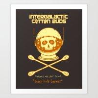 Intergalactic Cotton Buds Art Print