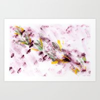 Purple Flying Bugs Art Print
