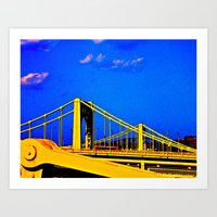 The 3 Sisters Bridges Art Print