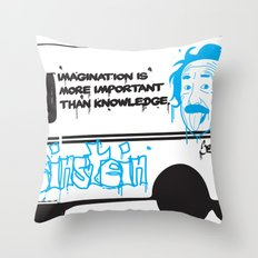 Albert Einstein - Streetwise Seniors Throw Pillow