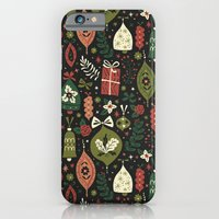 iPhone & iPod Case featuring Holiday Ornaments  by Anna Deegan