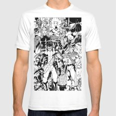 Whose Side Are You On? Mens Fitted Tee SMALL White