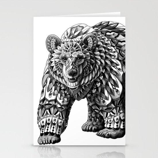 Ornate Bear Stationery Card