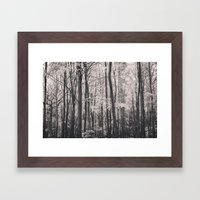 Deep in Woodland - Black and White Collection Framed Art Print