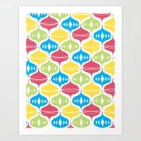 Fun & Bright Christmas O… Art Print