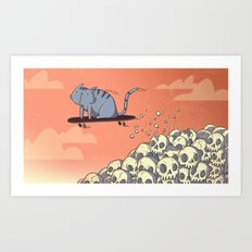 Crushing Skulls and Taking Names. Art Print