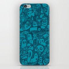 Blue Doodle iPhone & iPod Skin