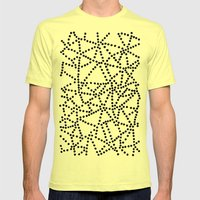 Dots Mens Fitted Tee Lemon SMALL