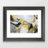 Veins  - Yellow Framed Art Print