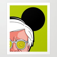 Pop Icon - Warhol by Haring Art Print