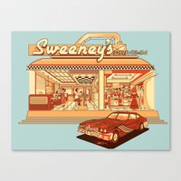 Sweeney's Diner Canvas Print