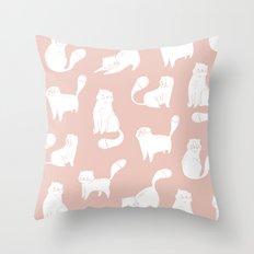 Little cats Throw Pillow