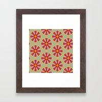 MCM Firewheel Framed Art Print