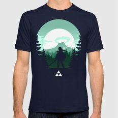 The Legend Of Zelda - Gr… Mens Fitted Tee Navy SMALL