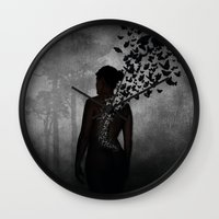 The Butterfly Transformation II Wall Clock