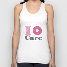 i don't care Unisex Tank Top