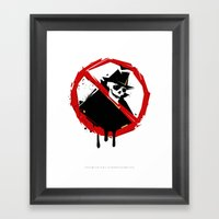 neighborhood watch Framed Art Print