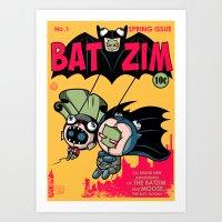 BatZim Art Print