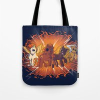 Four Little Ponies of the Apocalypse Tote Bag