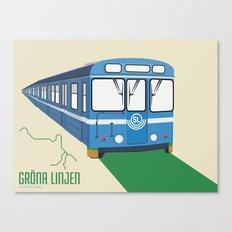 Gröna linjen Canvas Print