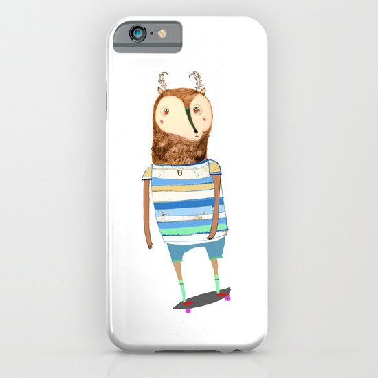 Deer, deer art, deer print, deer illustration, skateboard art, skateboarder,  iPhone & iPod Case
