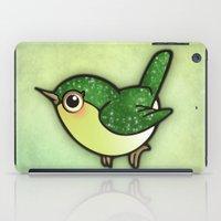 Cute Green Bird iPad Case