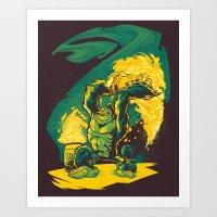 BARREL-CHUCKER Art Print