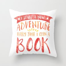 I Start A New Adventure … Throw Pillow