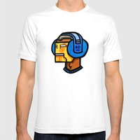 Headfone Mens Fitted Tee White SMALL