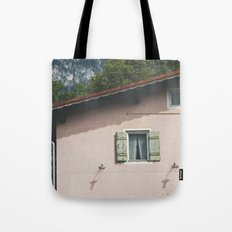 Pink Alpine House Tote Bag